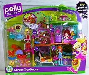Polly Pocket Garden Tree House Playset 35+ Pieces Included at Sears.com