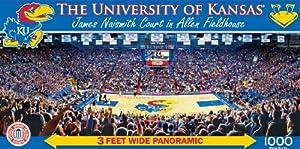 Buy MasterPieces NCAA Kansas Jayhawks Stadium Panoramic Jigsaw Puzzle, 1000-Piece by MasterPieces
