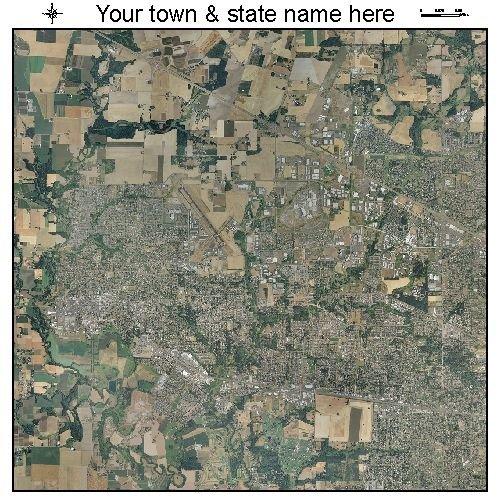 Aerial Photography Map of Hillsboro, Oregon
