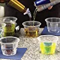 100 Clear EZ-Bombers Shot two chamber Cups for Jager, Cherry, Melon and Vegas Bombs