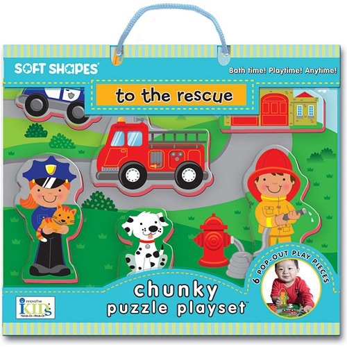 Innovative Kids Soft Shapes Chunky Puzzle To The Rescue Playset