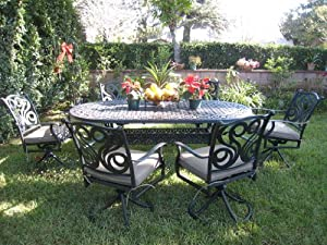 Beautiful One more option for shopping CBM Outdoor Patio Furniture Piece G Aluminum Dining Set This website every helps search the product you want for you