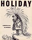 Holiday Magazine, July 1959, Chief Many Feathers Looking Through Binoculars on Cover,