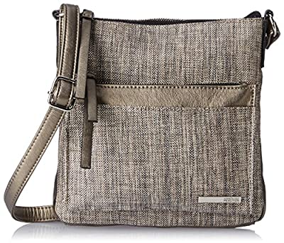 Kenneth Cole Reaction Foldover Metallic Cross Body Bag