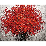 Anself 16*20cm DIY 数字油絵 手塗り花柄の装飾 ホームリビング ルーム 寝室 オフィス芸術の絵画