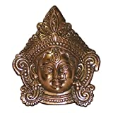 Durga Face, Small, Black Metal Idol by IndiaDeals4U