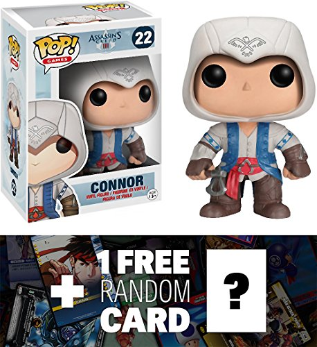 Connor: Funko POP! x Assassin's Creed Vinyl Figure + 1 FREE Video Games Themed Trading Card Bundle [37314]