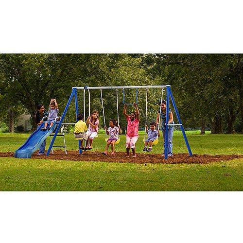 Flexible Flyer Play Park Metal Swing Set Reviews Hobit Fullring Co