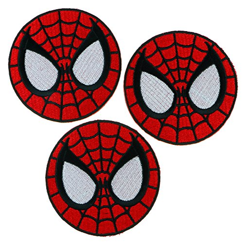 Iron Sew On Applique Patch : SpiderMan Super Hero (Red)