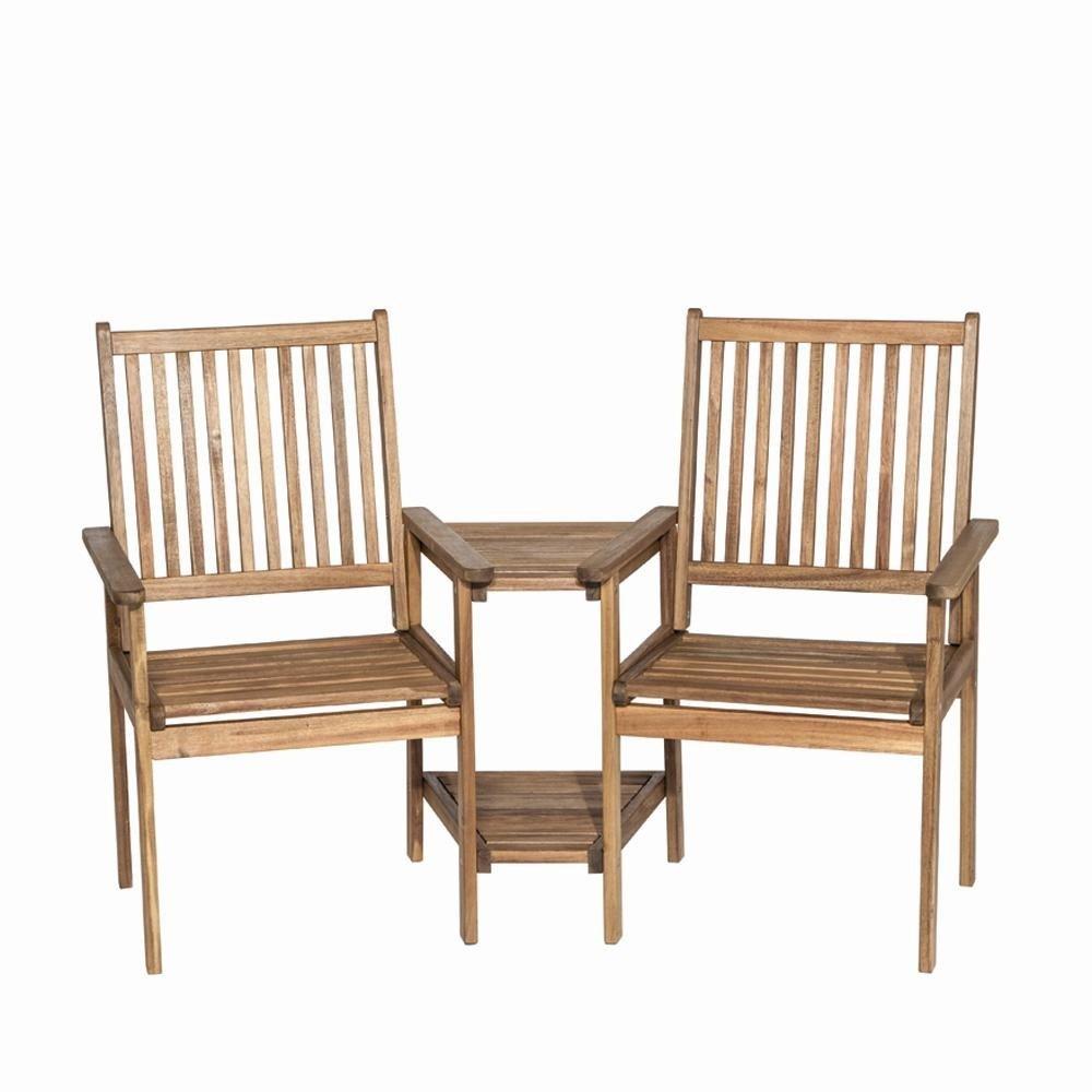 Siena Garden 175637 2er Bank Lucia Akazienholz FSC® 100% mit Tisch Beschläge aus galvanisiertem Stahl günstig online kaufen