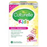 Culturelle Kids Chewables Daily Probiotic Formula, One Per Day Dietary Supplement, Contains 100% Naturally Sourced Lactobacillus GG –The Most Clinically Studied Probiotic†, 30 Count(Package may vary) (Tamaño: 30 Count)