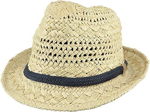 Barts - Ibiza Hat, Cappello unisex, beige chiaro con cordoncino blu navy, L