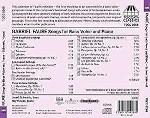 Fauré: Songs for Bass Voice & Piano