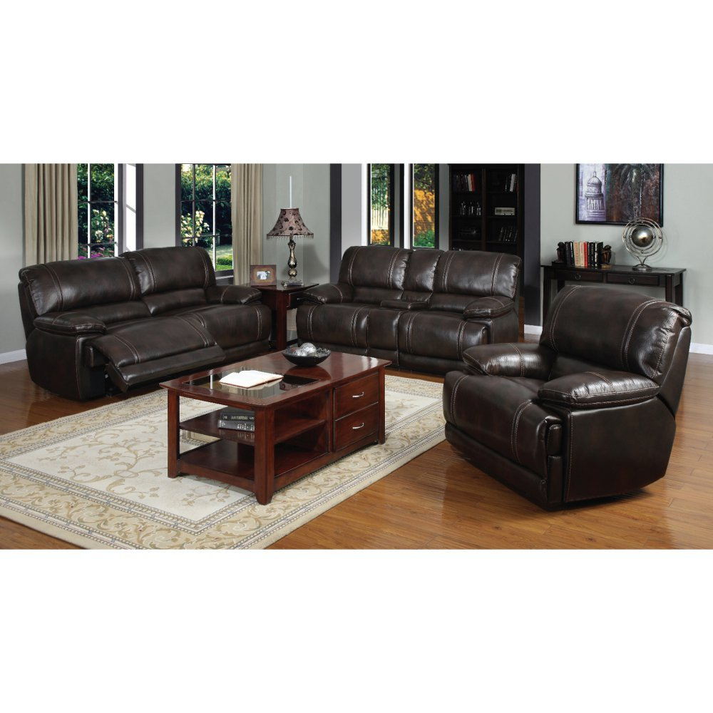 E-Motion Furniture Espresso Cypress Dual Reclining 3-Piece Sectional