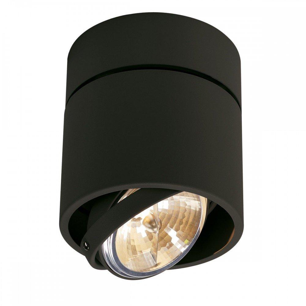 SLV Deckenstrahler Kardamod Surface Round QRB111 Single, rund, G53, schwarz 117170
