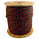 Bon 84-265 600-Feet 3/8-Inch Diameter Polypropylene Truck Rope, Black/Orange