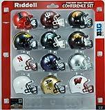 NCAA Big 10 Conference Pocket Size Helmet Set (12-Piece)