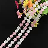 PH PandaHall Multicolor Flower Lace Trim Ribbon 15 Yards for DIY Sewing Craft Party Wedding Home Decoration (Color: Multicolor Flower, Tamaño: Length-15 Yards)