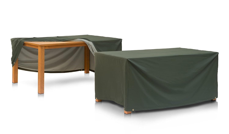 Eigbrecht 146189 Wood Cover Abdeckhaube Schutzhülle mit Abhang für Tischplatten grün 180x95x70cm