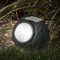 4-Set Pure Garden 50-21 Solar Rock Landscaping Lights