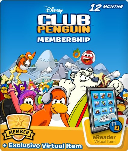Disney Club Penguin 12 Month Membership Code