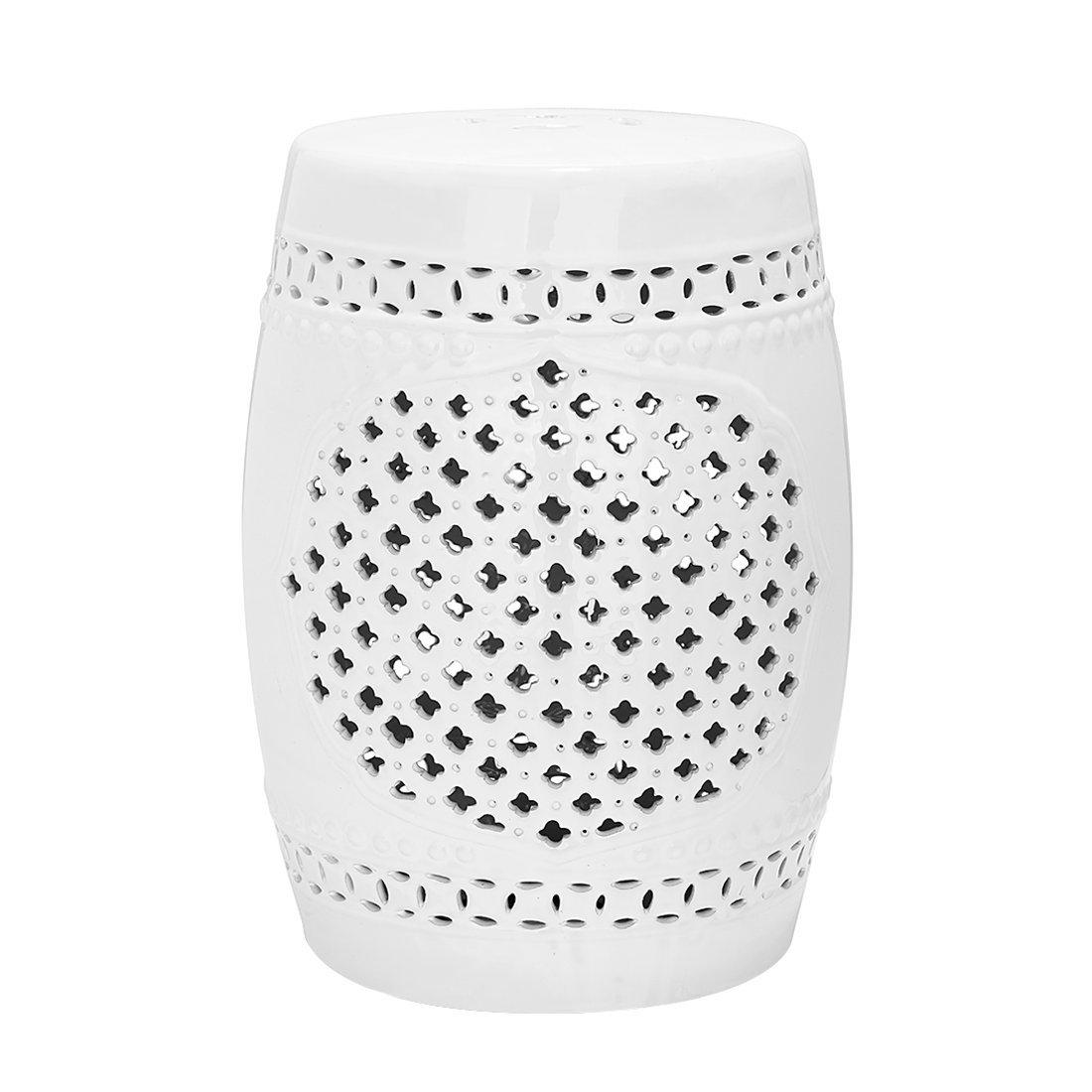 Gartenhocker Quatrefoil Farbe: Weiß kaufen