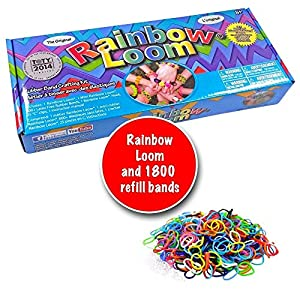 Twistz Bandz Rainbow Loom, silicone, bracelets, rainbow, looms kit with 1800 band refill