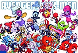 Marvel Comics Avengers Vs X-Men 24 X 36 Rolled Poster By Skottie Young