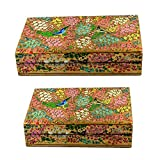 Craftuno Handcrafted Paper Mache Box - Set Of 2
