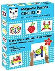 Play Panda Magnetic Puzzles Circles (250 Colorful Magnets)