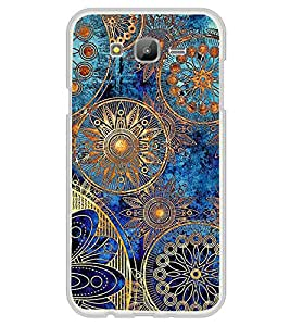 ifasho Designer Phone Back Case Cover Samsung Galaxy On5 (2015) :: Samsung Galaxy On 5 G500Fy (2015) ( Green Blue Pattern )