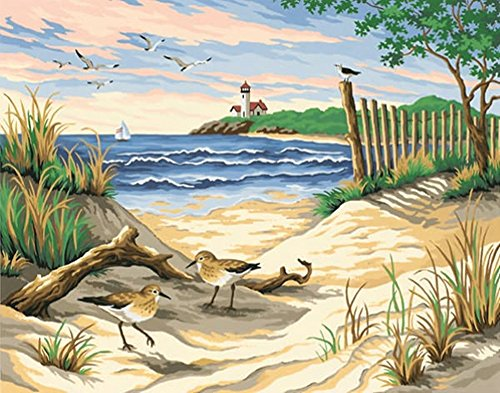 Do it yourself paint by numbers shopswell for Pre printed canvas to paint for adults