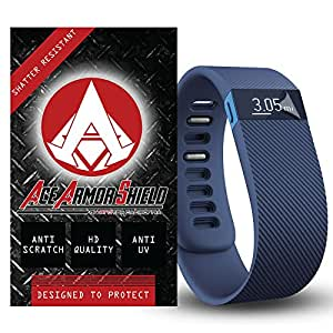 Ace Armor Shield Ace Armor Shield Shatter Resistant Screen Protectors for the fitbit Charge HR / Military Grade / High Definition / Maximum Screen Coverage / Supreme Touch Sensitivity /Dry or