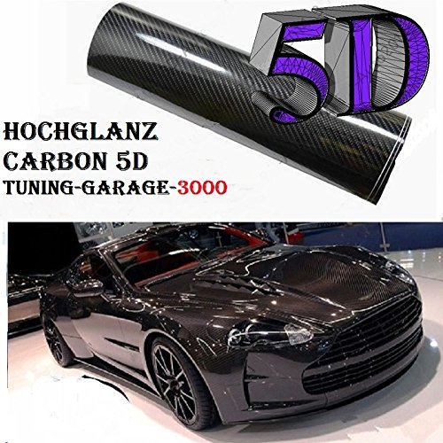 1649-x20acM-100-cm-x-200-cm-Film-autocollant-brillant-Air-canaux-carbone-5d-Noir-Instructions-en-allemand