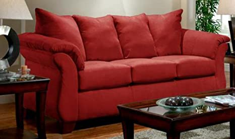 Chelsea Home Furniture Armstrong Sofa, Sensations Red Brick