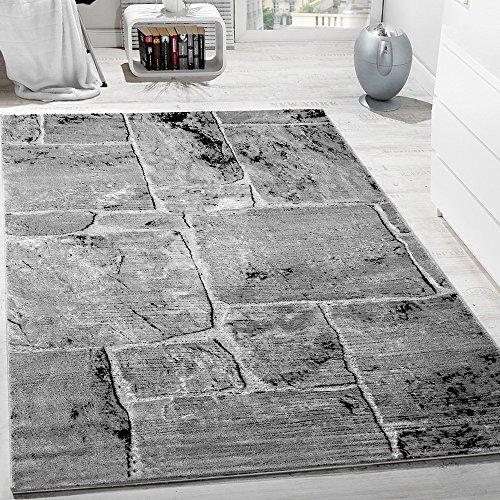 designer-teppich-modern-trendig-meliert-steinoptik-mauer-muster-wohnzimmer-grau-grosse80x150-cm