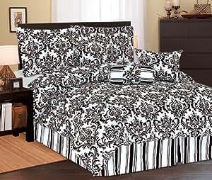 5Pc Twin Beverly Microfiber Bedding Comforter Set Black