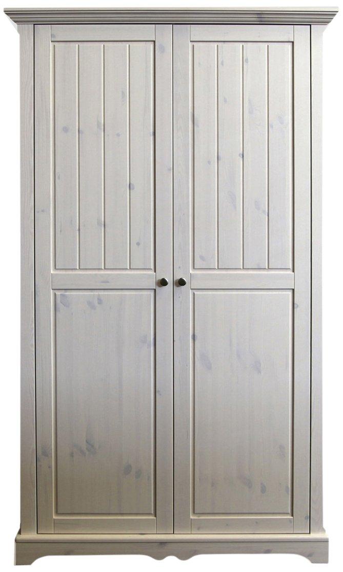 Steens Furniture 101 Steens Lotta Kleiderschrank, Kiefer, 201.8 x 120 x 57.9 cm, 2 Turig, white wash jetzt bestellen