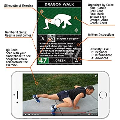 Exercise Cards Ultimate Pack: Strength Stack 52 Bodyweight Workout Card and Dice Games. Designed by a Military Fitness Expert. Video Instructions Included. No Weights or Gym Equipment Needed.