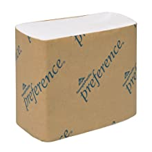 "Preference 101-01 White Singlefold Interfolded Bathroom Tissue, 400-Count Pack, 5"" Length x 4"" Width (60 Packs of 400)"