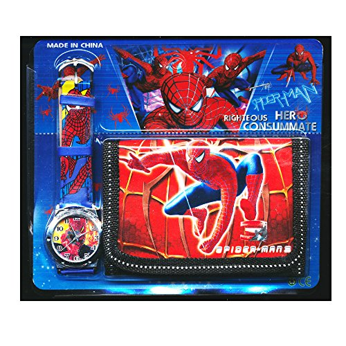 Spiderman Spidey Children's Watch Wallet Set For Kids Children Boys Girls Great Christmas Gift Gifts Present -...