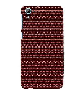 Triangle Wave Pattern 3D Hard Polycarbonate Designer Back Case Cover for HTC Desire 826::HTC Desire 826 Dual Sim::HTC Desire 826 DS (GSM + CDMA)