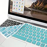 "GMYLE Turquoise blue Silicon Keyboard Cover for Acer 11.6"" Chromebook C720 C720P C740 (US Layout)"