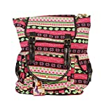Valentine's day gift for her, Women's Backpack Multicolor (pinkmultiprint)