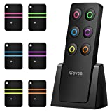 Key Finder, Govee Wireless RF Item Locator Item Tracker with Remote, 1 RF Transmitter and 6 Receivers for Car Keys Pets Purse - Wireless Key RF Locator, Pet Tracker Wallet Tracker, Keychains Included (Tamaño: Square Remote)