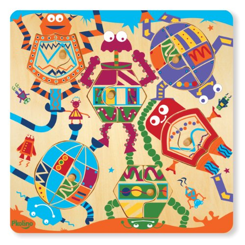 61j1 MoD2CL Reviews Pkolino Mix & Match 12 Piece Puzzle   Robots