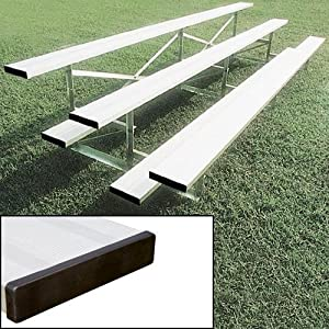 Aluminum Bleachers with Double Footboard - 27-Foot, 54-Seat from Athletic Connection