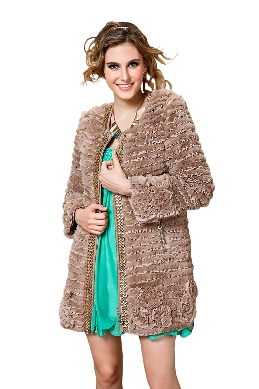 Queenshiny Damen Jacke beige online kaufen