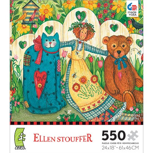 Ellen Stouffer: Girl and Friends - 550 Piece Jigsaw Puzzle