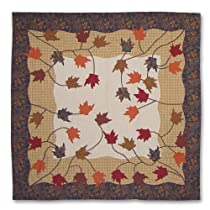 Patch Magic 72-Inch by 72-Inch Autumn Leaves Shower Curtain